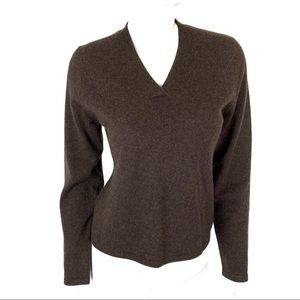 Philosophy Dane Lewis Cashmere Sweater Large Brown